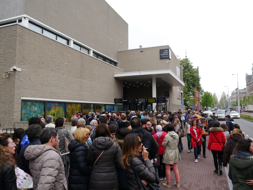 The line to get in to the Van Gogh museum…and it hadn't even opened yet!