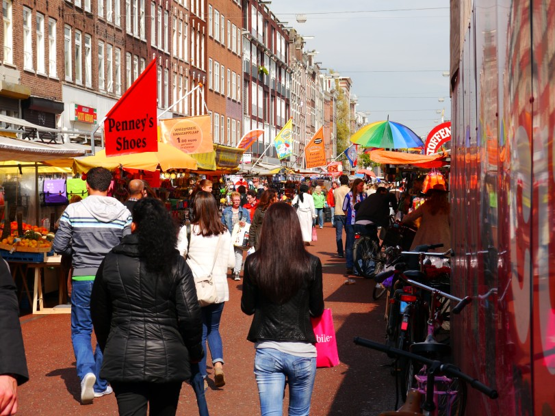 The Albert Cuypmarkt - colorful, but not much else!