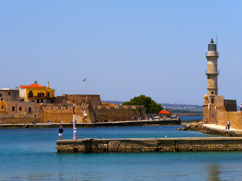 The entrance into the harbor, highlighted by the Venetian lighthouse, one of the oldest in the world!