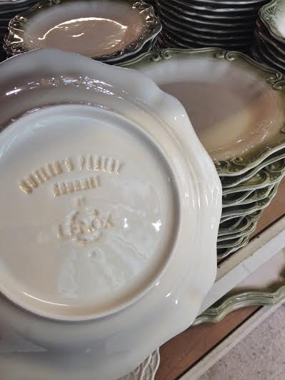 Back to the store room! And look at this - a Lenox dish set at half the price!