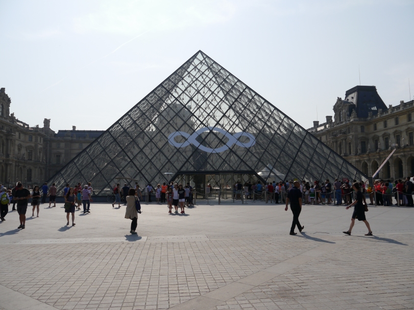 The Louvre - best enjoyed outside away from the crazy crowds!