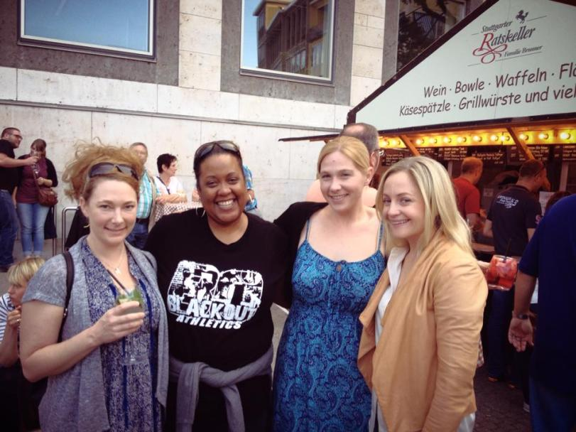 Love these girls...and the Stuttgart Wein Fest!