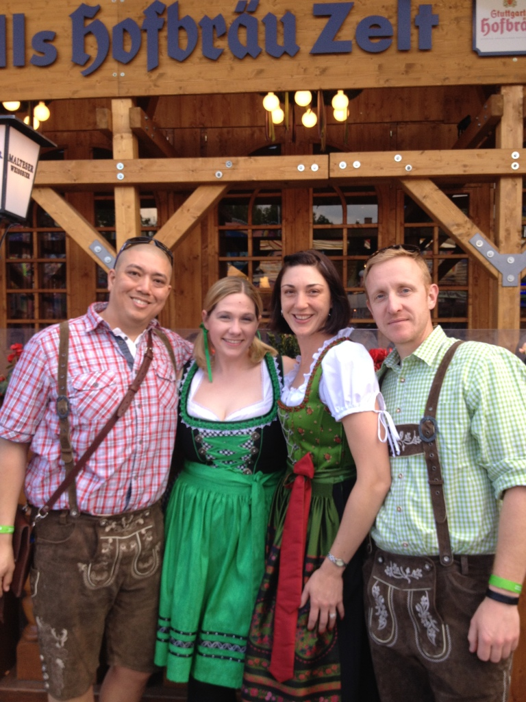 Jake and Renee got into the spirit of the German festival!