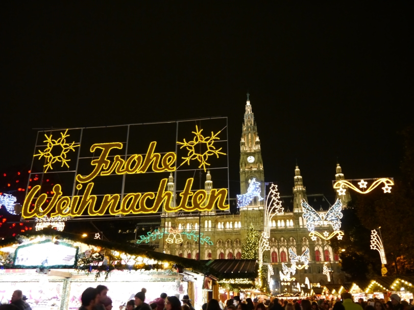 One of the many Christmas Markts in Vienna!