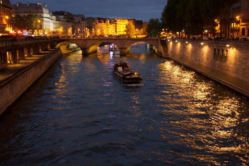 The Seine at night!