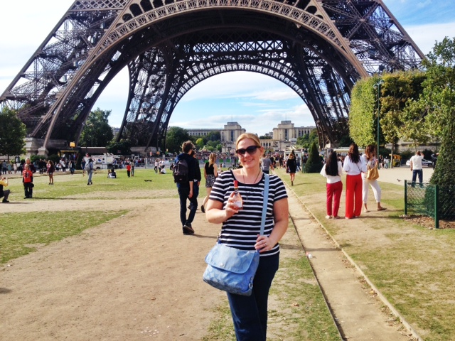 We took a much-needed wine by the Seine River break our first day...there are many ways to incorporate breaks! :-)