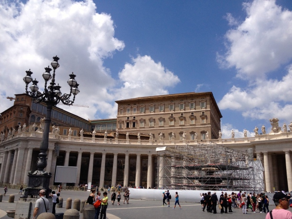 The Pope's Apartment overlooking St. Peter's Square