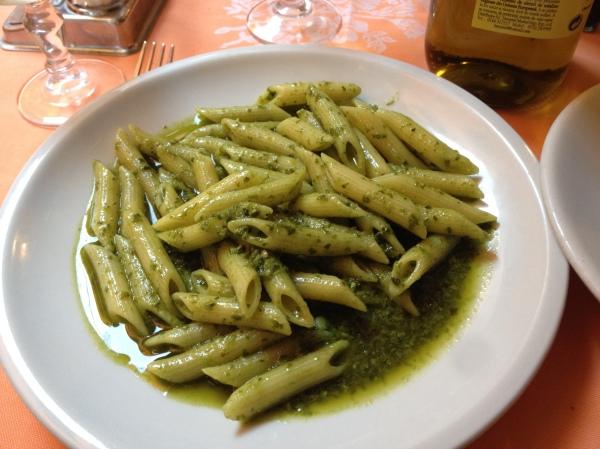 Pesto pasta = delicious!