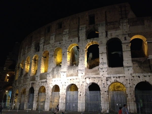 The Colosseum by night. Gorgeous!