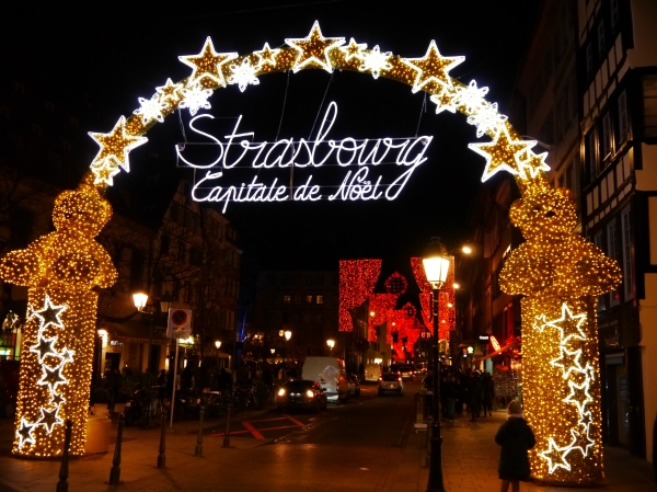 This sign doesn't lie - Strasbourg is the Capital of Christmas...at least the lights part!