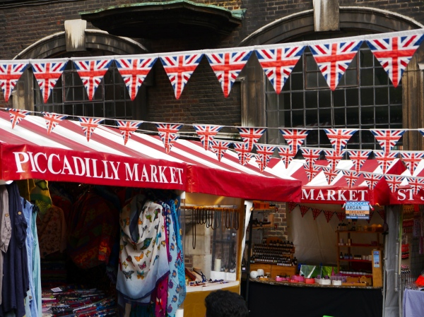One of the many London markets - there were so many too see. Londoners love their markets!
