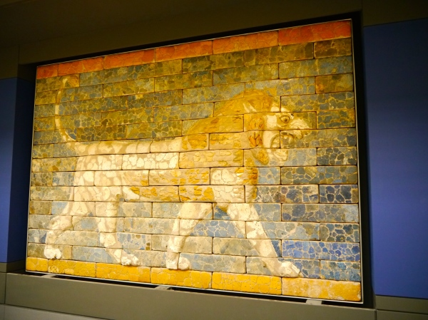 One of the many cool parts of the museum - a piece of the Ishtar gate!