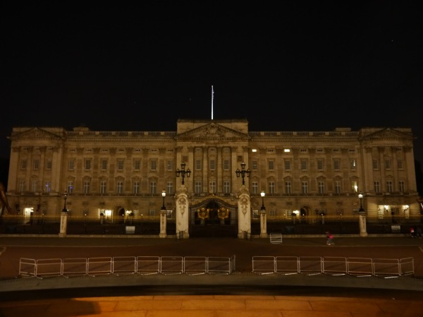 Two thumbs down, Buckingham Palace. Thanks to my camera setting it seems lit up - but it is not. Maybe because the Queen was home? Either way - it was a letdown after seeing all the other buildings all pretty with spotlights!