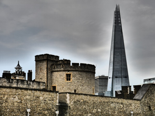 "Modern and new - the ""Shard"" and the Tower."
