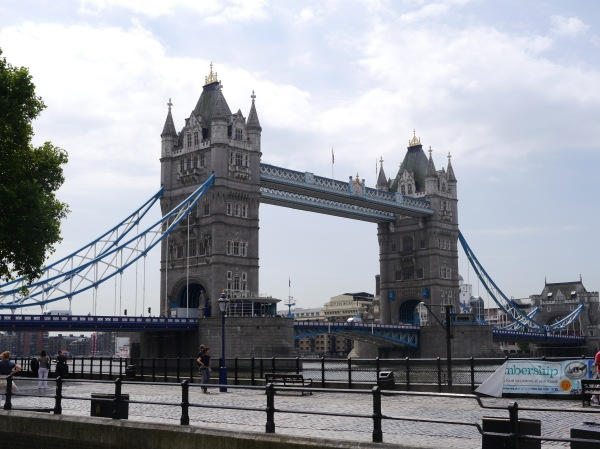 The Tower Bridge (often confused to be London Bridge)...right by the Tower of London. You can go up, but we opted against that.