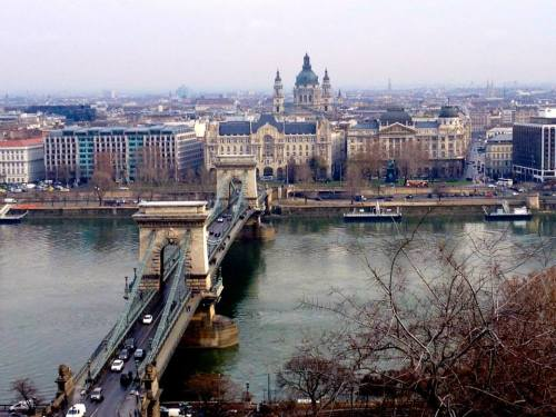Looking at the Pest side from the Buda Castle