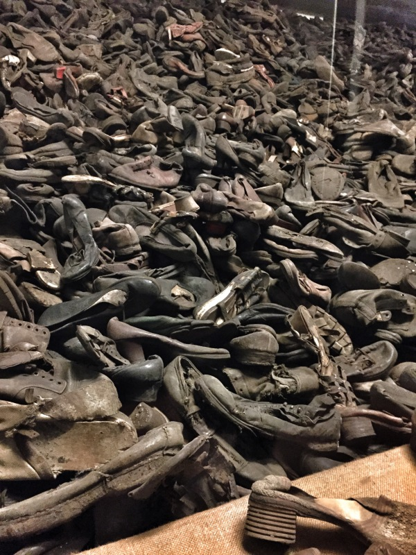 The shoes of the victims.
