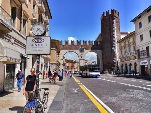 Entrance to the main square of Verona, which has its own full-size Collosseum, and of course, the Juliet house!