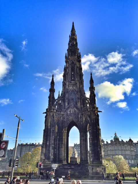 The Scott Monument, directly outside our front door.