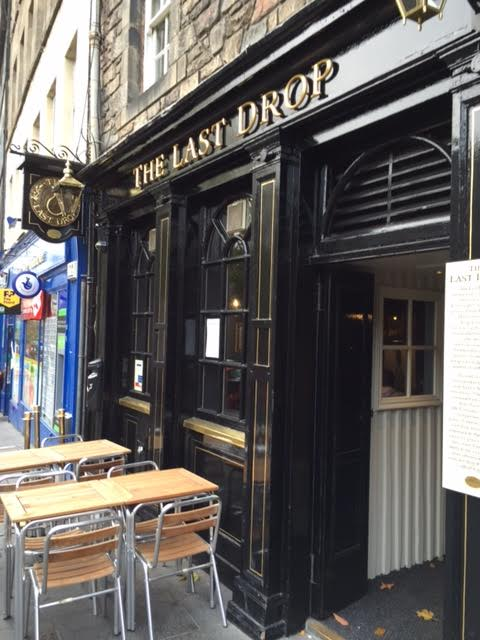 This pub's backstory is a bit gruesome. The story is that criminals would have their last drink here before being hanged in the Grassmarket Square - hence the name the Last Drop!