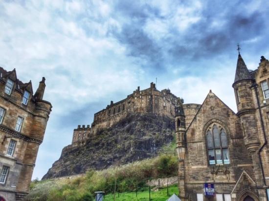 The photogenic Edinburgh Castle.