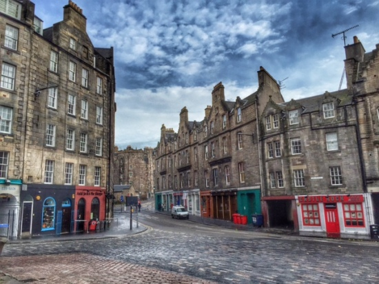 The beginning of the Grassmarket area.