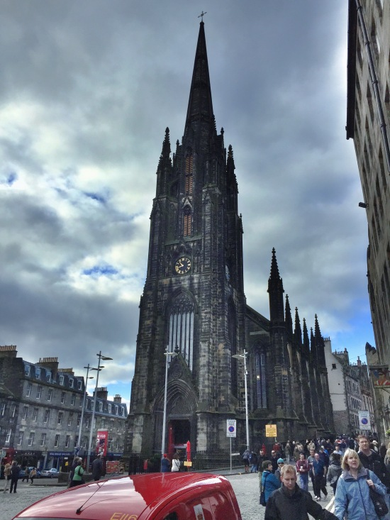 St. Giles Church on the Royal Mile en route to Castle Hill.