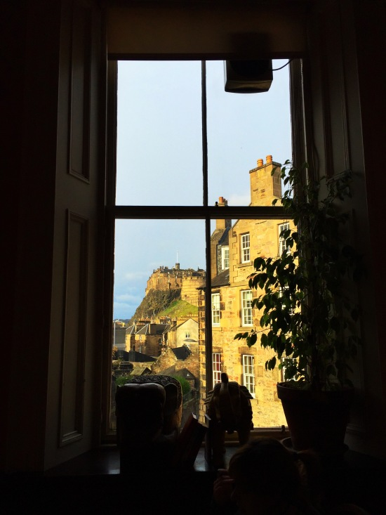 The story goes that JK Rowling wrote Harry Potter in the shadow of the Edinburgh Castle...this would have been her view.