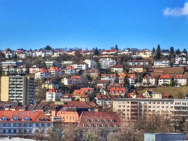 The Stuttgart hills.