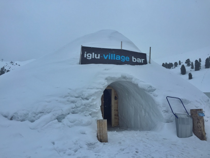 The Iglu bar - complete with ice sculptures and snow carvings.