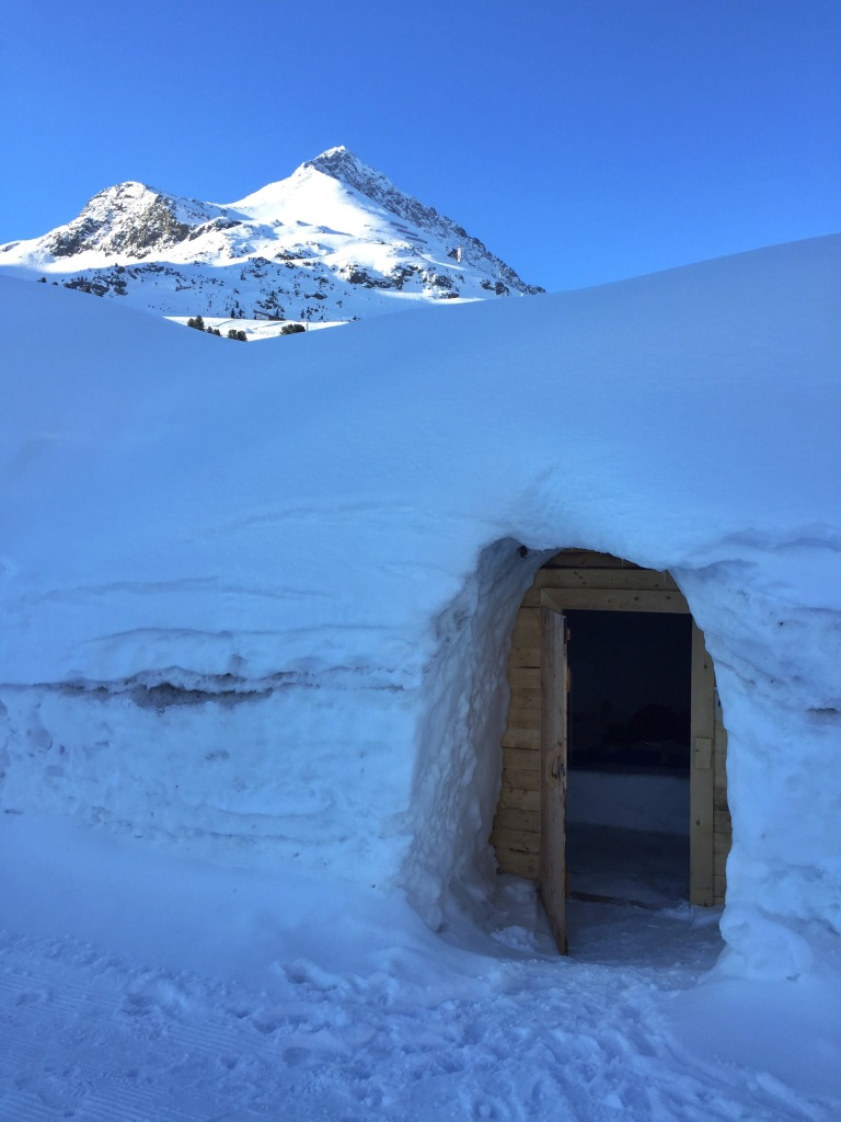 Our igloo in the morning.