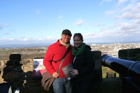 The one good picture from the Castle...the rest were crazy-hair disaster photos!