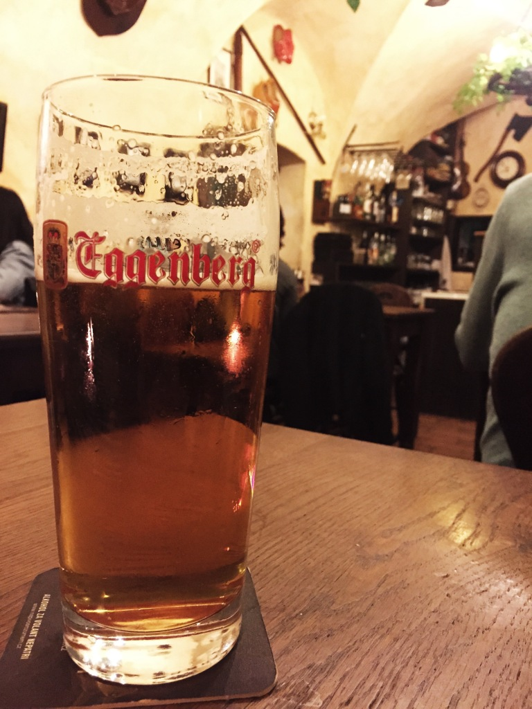Mmmm...the local brew, Eggenberg. So good, we brought some back with us!