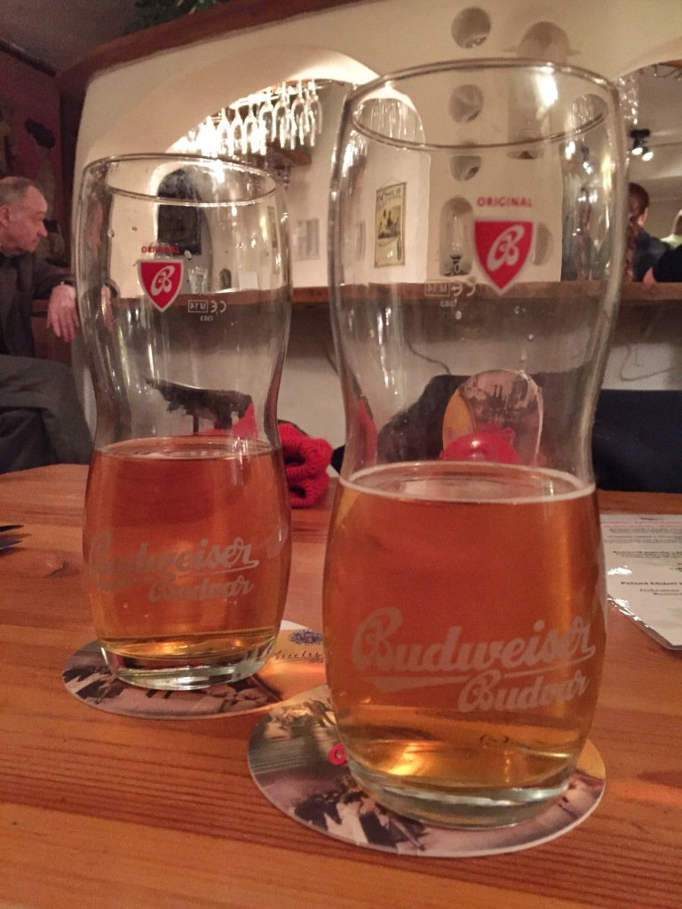 Another must - Budvar! It shares the name with Budweiser, which has caused legal tangles between the Czech beer and the US beer. Personally, I think the Czech one tastes better! :-)