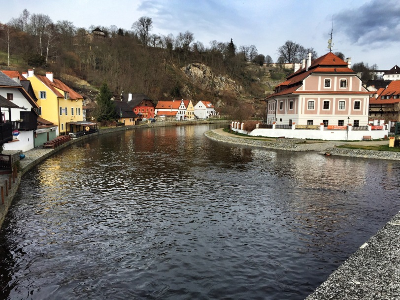 Cesky Krumlov is almost an island, surrounded by the windy Vltava River. In the summer, rafting trips are really popular.