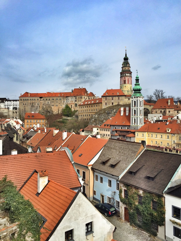 The castle and Cesky Krumlov rooftops!