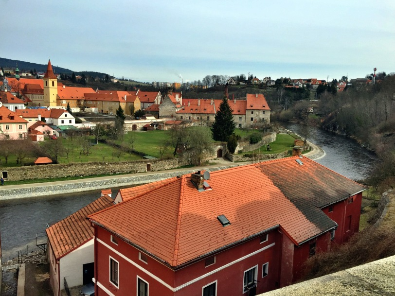 More of the town - across the river is the Eggenberg Brewery, delicious local beer!