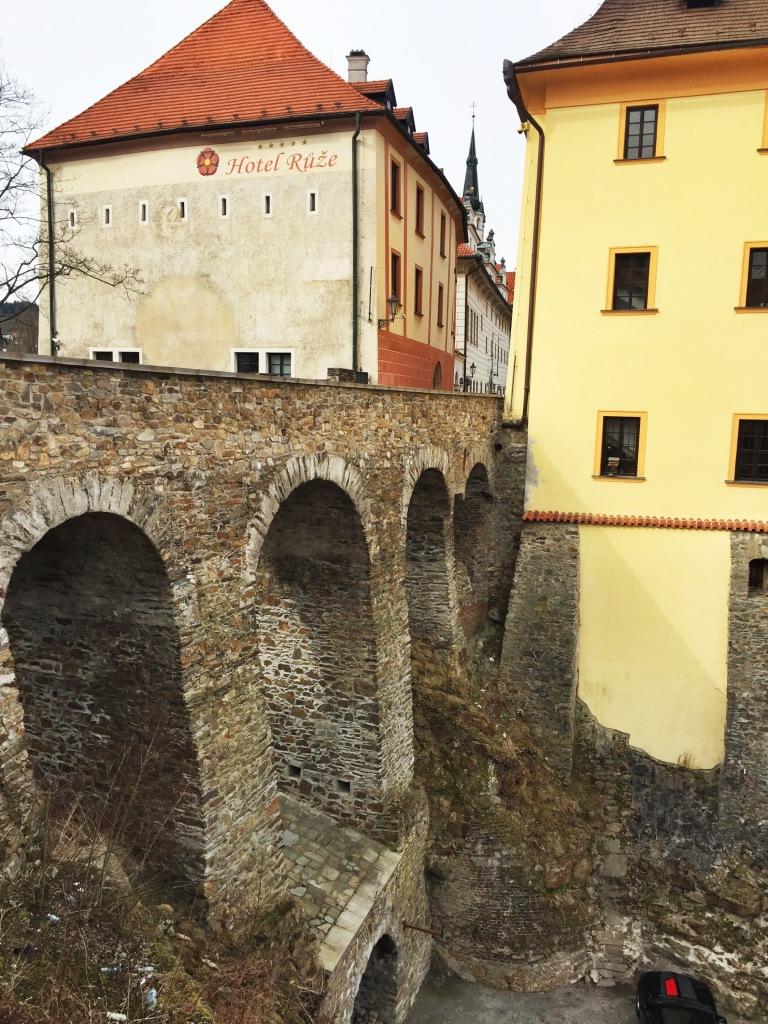 The Horni Bridge - great views of the castle!