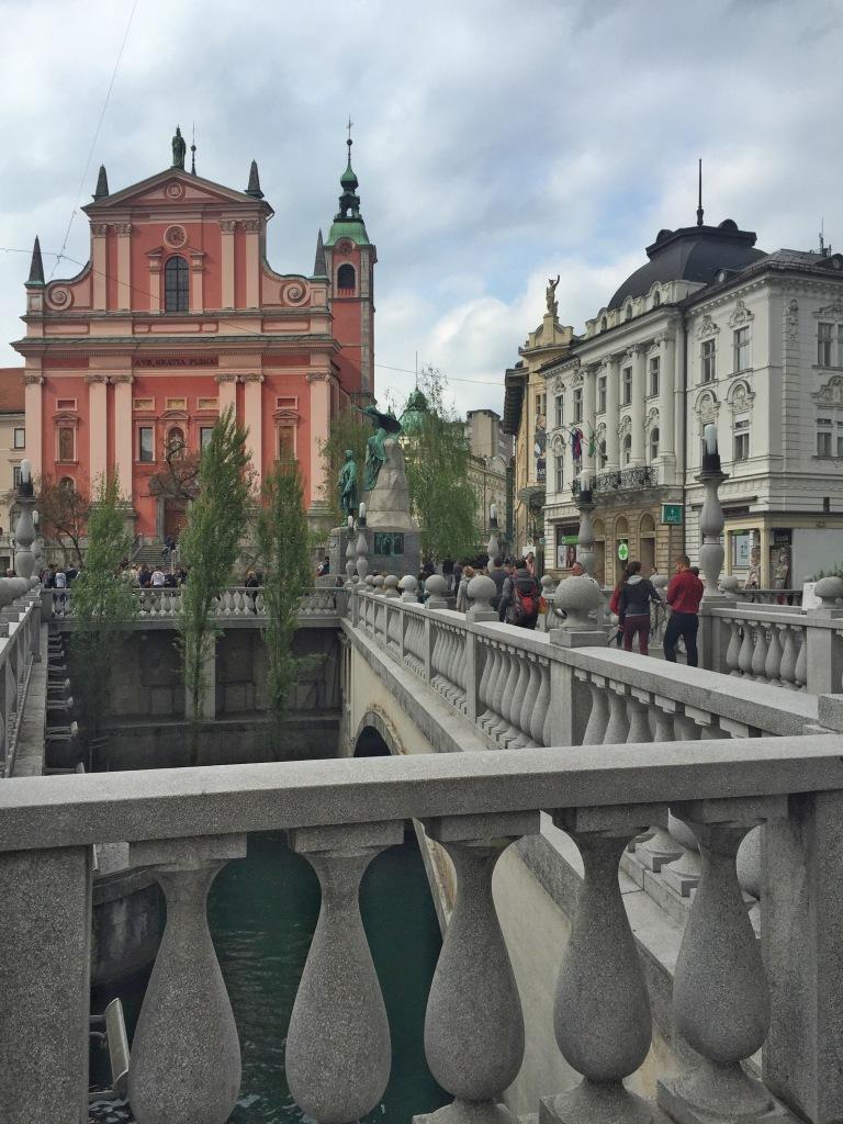 The small main square in Ljubljana.
