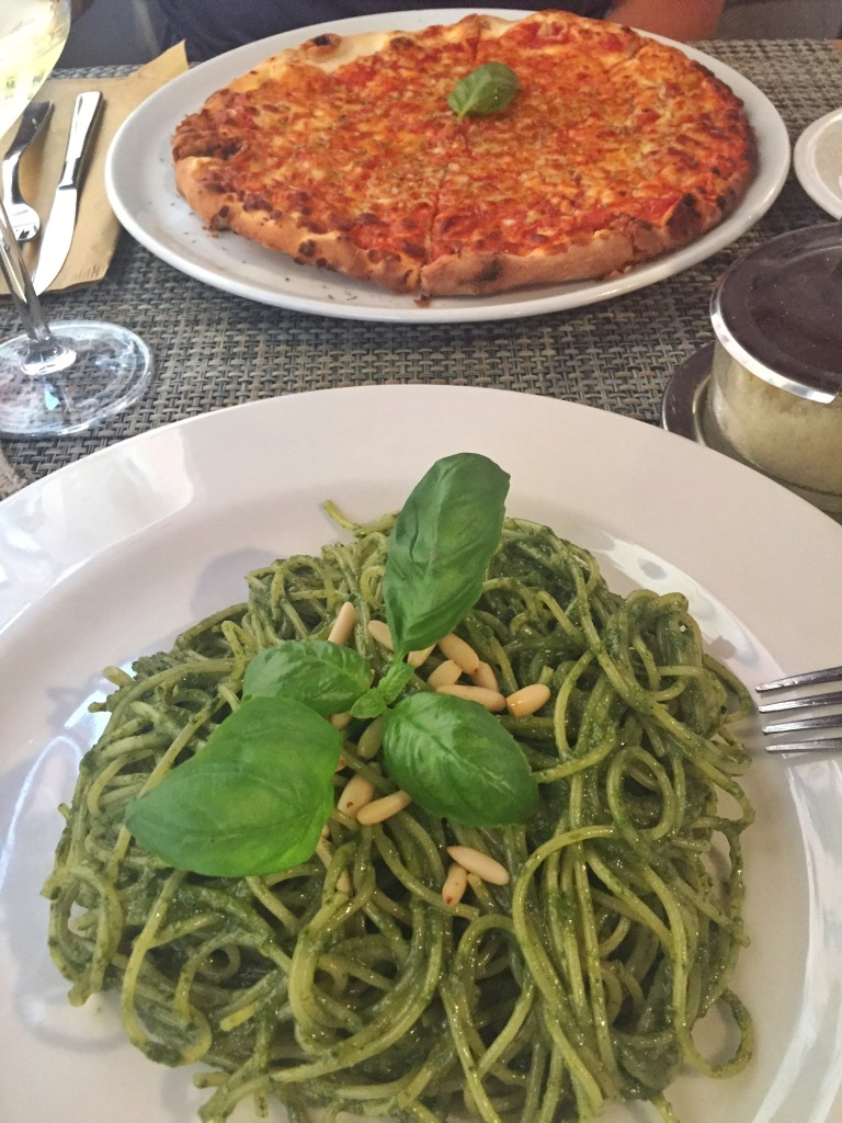 The delicious food - the best pesto I have ever had!