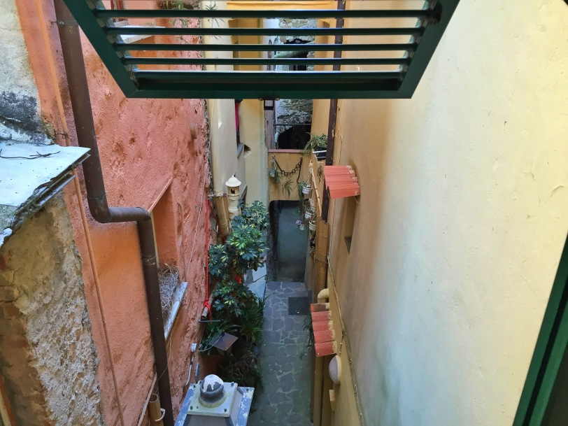 View from one of the side windows...love the little alleys!