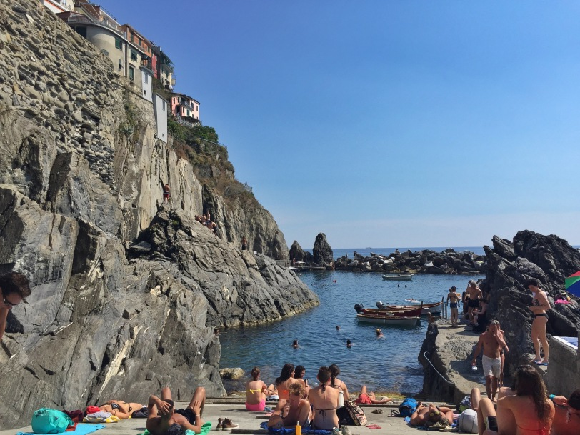 Best swimming hole in Cinque Terre - Manarola!