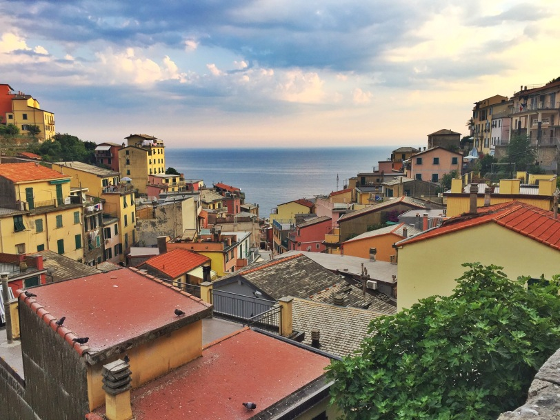 View from Riomaggiore to the Mediterranean Sea