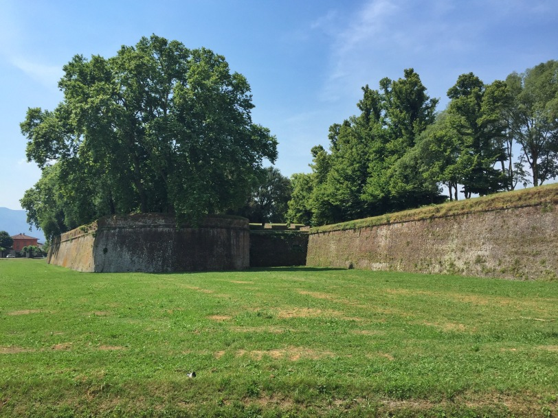 Lucca is encircled by a well-preserved Renaissance wall.