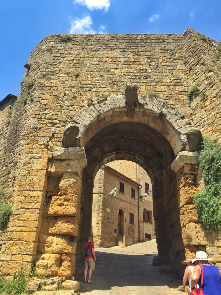 This is the Etruscan gate, built in the fourth century B.C. It was saved from ruin during WWII when the townspeople barricaded it from the Nazis, who were going to blow it up.
