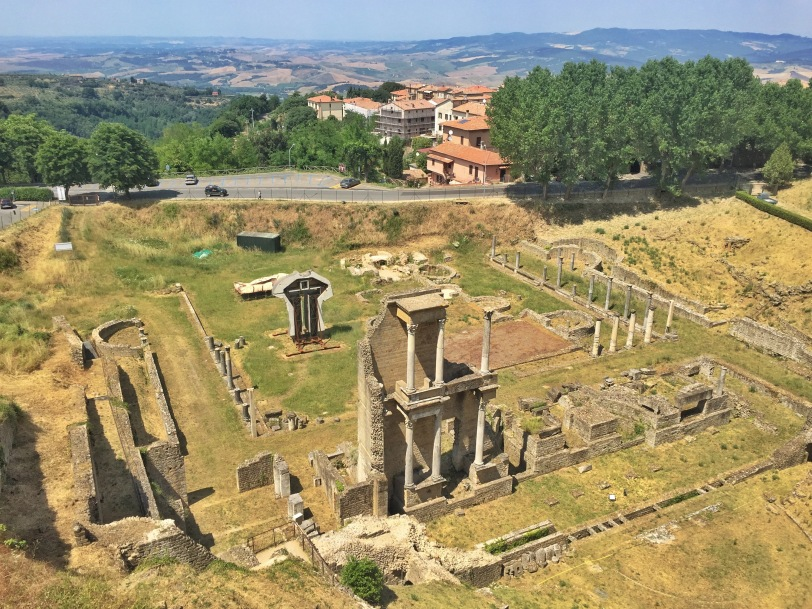 Roman ruins on the outskirts of town. This was once the town dump, before the ruins were found underneath.