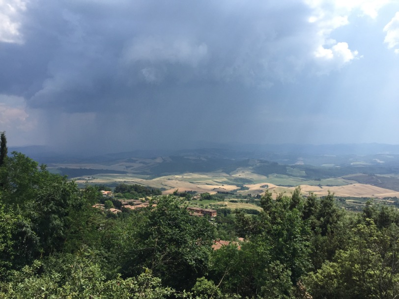 We were hiking FAST up to our car thanks to this storm coming in!
