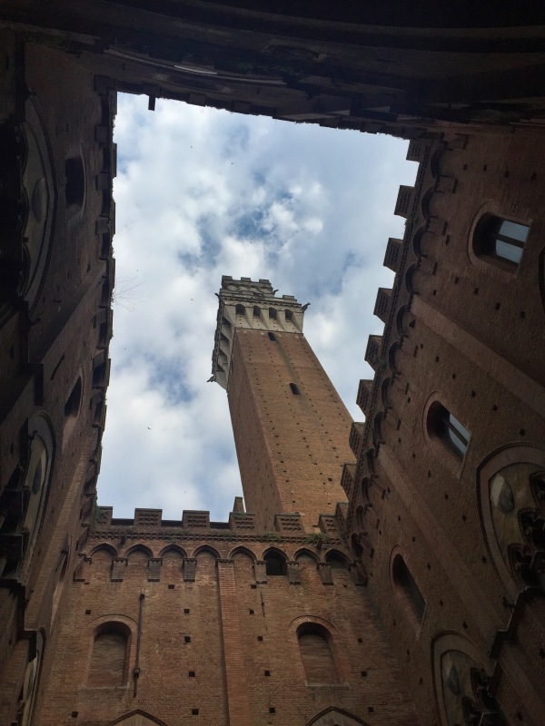 Inside the Palazzo Pubblico...we decided not to climb up the tower.