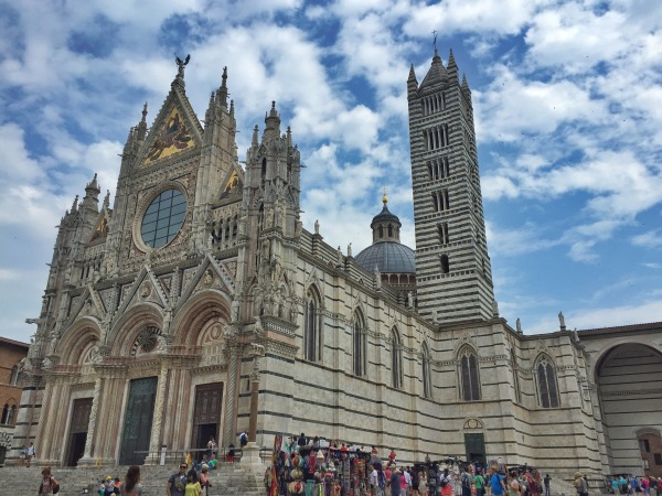 The Duomo in Siena...this both wowed Karyn and I.