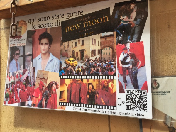 While Twilight is all about Volterra, the movie was filmned in Montepulciano...and this store was very proud of their role in the film.